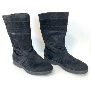 Tecnica Skandia Black Calf Hair Suede Winter Boots